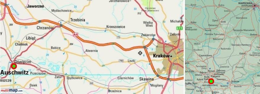 Auschwitz Karte.Auschwitz Gas Chambers