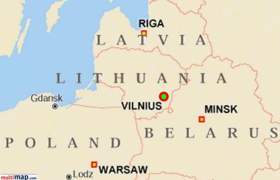 Vilnius Vilna Ghetto - Vilnius map