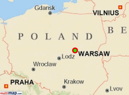 Warsaw Ghetto - Where is warsaw