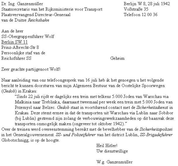 voorbeeldbrief duits De brief van Ganzenmueller voorbeeldbrief duits